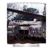 Retired Navy Shower Curtain