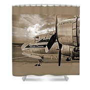 Retired - Sepia Shower Curtain