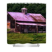 Retired Vermont Farm Shower Curtain