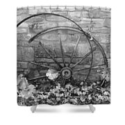 Retired Wheel Shower Curtain