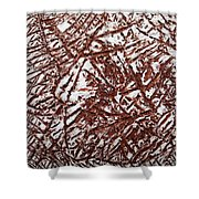 Retreating - Tile Shower Curtain