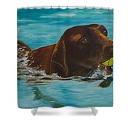 Retriever Play Shower Curtain