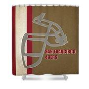 Retro 49ers Art Shower Curtain