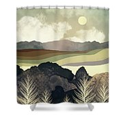 Retro Afternoon Shower Curtain