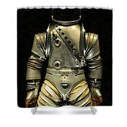 Retro Astronaut Shower Curtain
