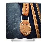 Retro Background Old Suitcase Handle Shower Curtain
