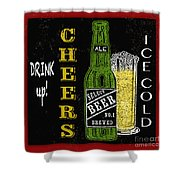 Retro Beer Sign-jp2915 Shower Curtain