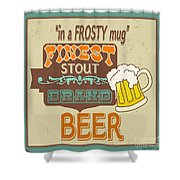 Retro Beer Sign-jp2917 Shower Curtain
