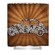 Retro Beetle Car Shower Curtain