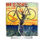 Retro Bicycle Ad 1898 Shower Curtain