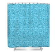 Retro Blue Pattern Shower Curtain