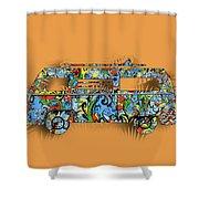 Retro Camper Van 2 Shower Curtain