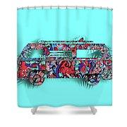Retro Camper Van 3 Shower Curtain