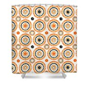 Retro Circles Pattern Shower Curtain