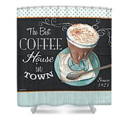 Retro Coffee 2 Shower Curtain