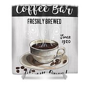 Retro Coffee Shop 2 Shower Curtain