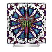 Retro Cross Shower Curtain