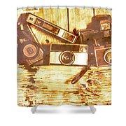 Retro Film Cameras Shower Curtain