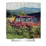 Retro Ford Shower Curtain