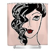 Retro Golden Age Shower Curtain