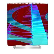 Retro Keys Shower Curtain