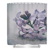 Retro Lilac Flower Shower Curtain