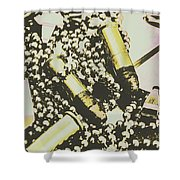 Retro Military Poster Art Shower Curtain