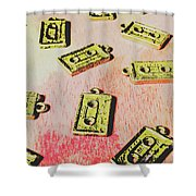 Retro Music Tapes Shower Curtain