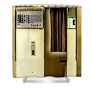 Retro Photo Booth Shower Curtain