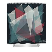 Retro Polygon Pattern Shower Curtain