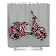 Retro Scooter 4 Shower Curtain