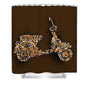 Retro Scooter 5 Shower Curtain