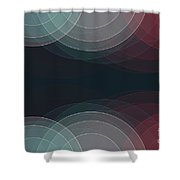 Retro Semi Circle Background Horizontal Shower Curtain