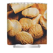 Retro Shortbread Biscuits In Old Kitchen Shower Curtain