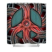 Retro Style Peace Sign Shower Curtain