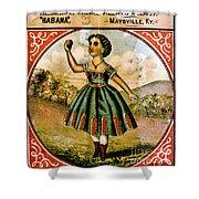 Retro Tobacco Label 1868 C Shower Curtain