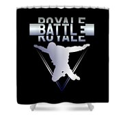 Retro Vintage 90s Chrome Skydiver Battle Royale Gamer T Shirt Shower Curtain
