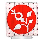 Retro White Flower Shower Curtain