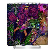Return Of Paradise Glass Shower Curtain by Joseph Mosley