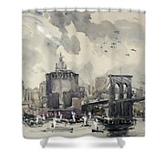 Return Of The World Fliers Shower Curtain