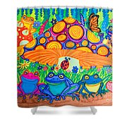 Return To Happy Frog Meadow Shower Curtain