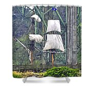 Return To The Yaquina Bay Shower Curtain
