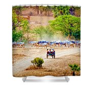 Returning From Pasture 13 Shower Curtain