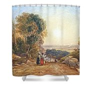 Returning Home From Market Shower Curtain