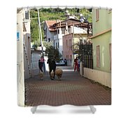 Returning Home With Sheep And Lambs In Bozburun Shower Curtain