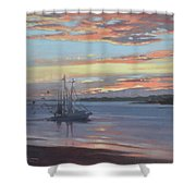 Returning With The Catch Shower Curtain