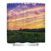Retzer Nature Center - Summer Sunset #4  Shower Curtain