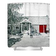 Retzlaff Winery With Red Door No. 2 Shower Curtain