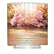 Revelation Tree Of Life Shower Curtain