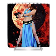 Revenge Of The Space Princess Shower Curtain